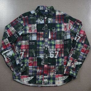 Ralph Lauren Classic Fit Patchwork Shirt Size XL